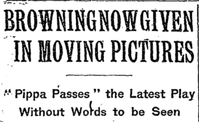 Out Of The Past: The New York Times publishes its first movie review on this day in 1909