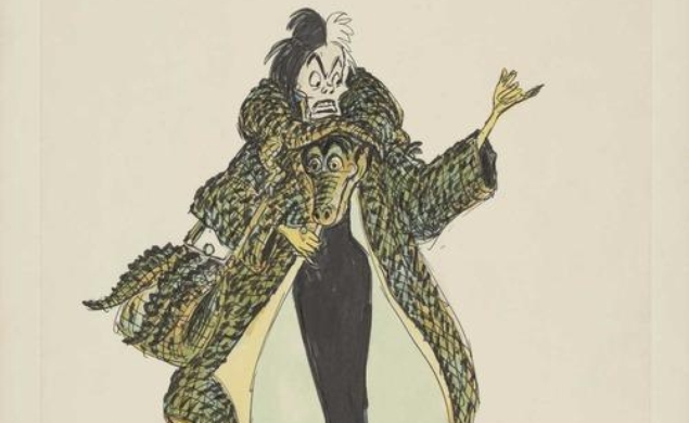See a disco-era Cruella De Vil in unused sketches from an earlier incarnation of The Rescuers