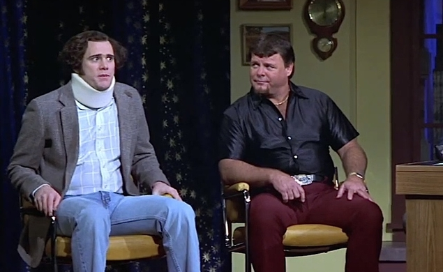 Jim Carrey got so into character in Man On The Moon he spat in Jerry Lawler's face