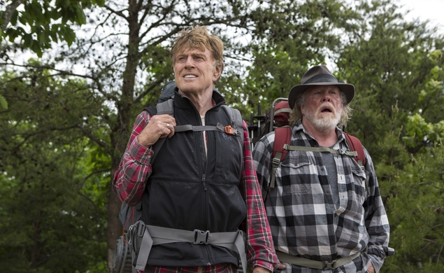 Robert Redford and Nick Nolte bicker, walk in A Walk In The Woods trailer