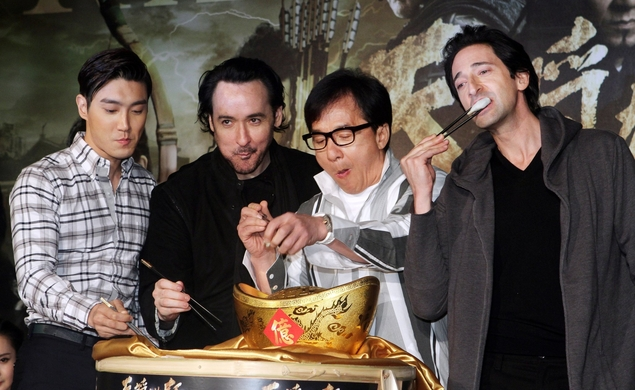 Adrien Brody and John Cusack go to China in the Dragon Blade trailer