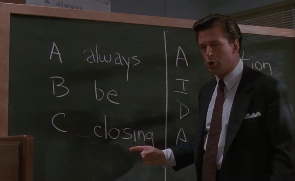 Glengarry Glen Ross had the brass balls to ignore conventional film wisdom
