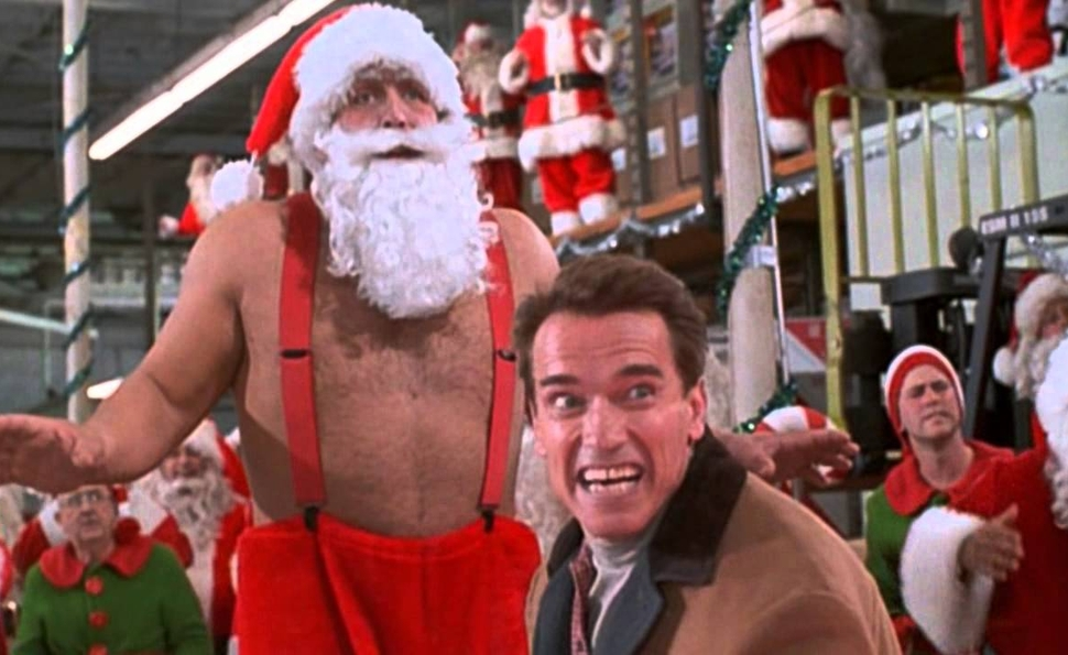Arnold Schwarzenegger brings Christmas cheer and gratuitous violence in Jingle All The Way