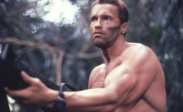 "Coolness: Arnold Schwarzenegger finds a new excuse to say ""Get to the choppah!"""