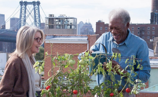 Diane Keaton and Morgan Freeman are old, moving in the trailer for 5 Flights Up