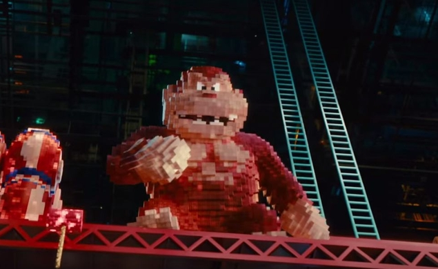 New Pixels trailer introduces the king of Kong (and Pac-Man, and Centipede)