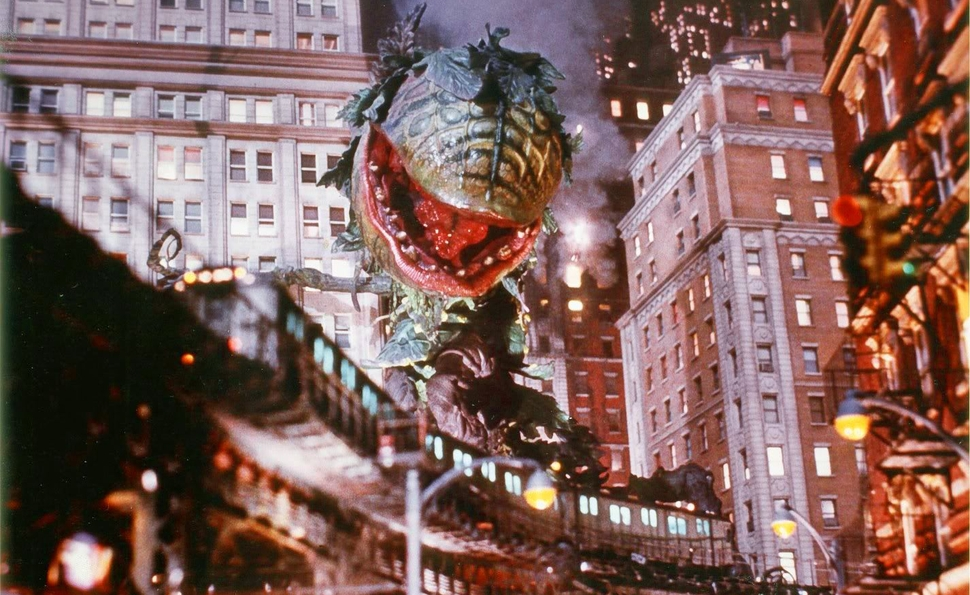 Image result for little shop of horrors original ending