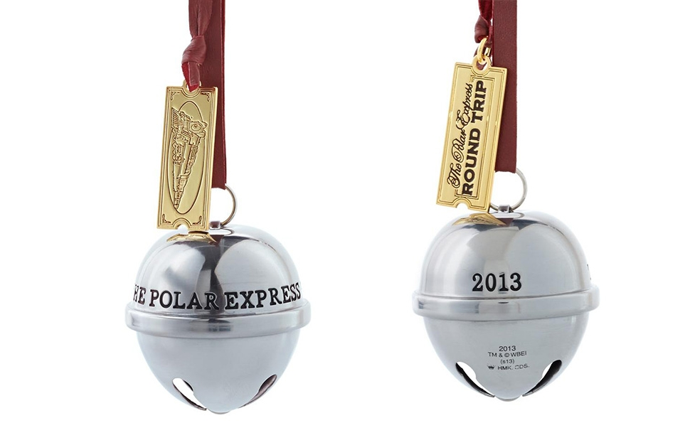 A Polar Express ornament tells the story of a film quietly becoming a tradition